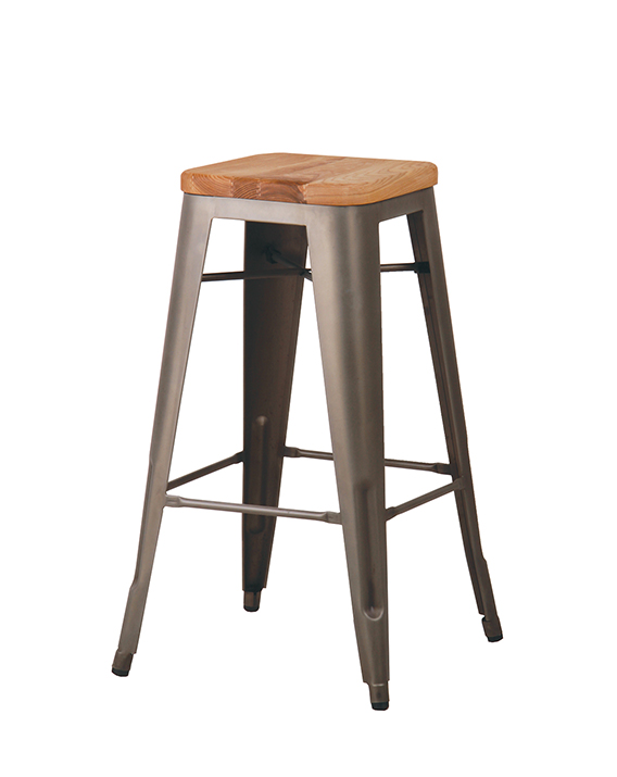Surprising Cali 957 Backless Metal Bar Stool With Wooden Seat Cape Gmtry Best Dining Table And Chair Ideas Images Gmtryco